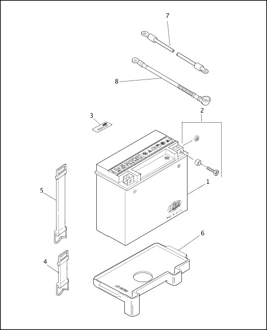 BATTERY|1999 Softail Models Parts Catalog