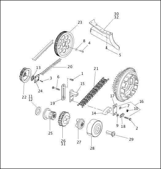 BELTS, CHAINS & SPROCKETS (2 OF 2)|2000 FLT Models Parts Catalog