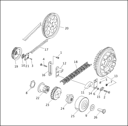 BELTS, CHAINS & SPROCKETS|1999 Softail Models Parts Catalog