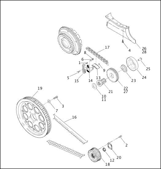 BELTS, CHAINS & SPROCKETS (2 OF 2)|2001 FLT Models Parts Catalog