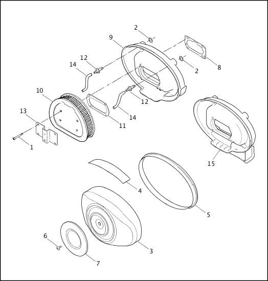 AIR CLEANER - FUEL INJECTED MODELS 2001 FLT Models Parts Catalog