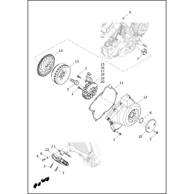ALTERNATOR AND REGULATOR|2020 Harley-Davidson Street™ Models Parts Catalog