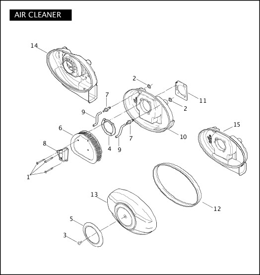 AIR CLEANER|2007 Touring Models Parts Catalog