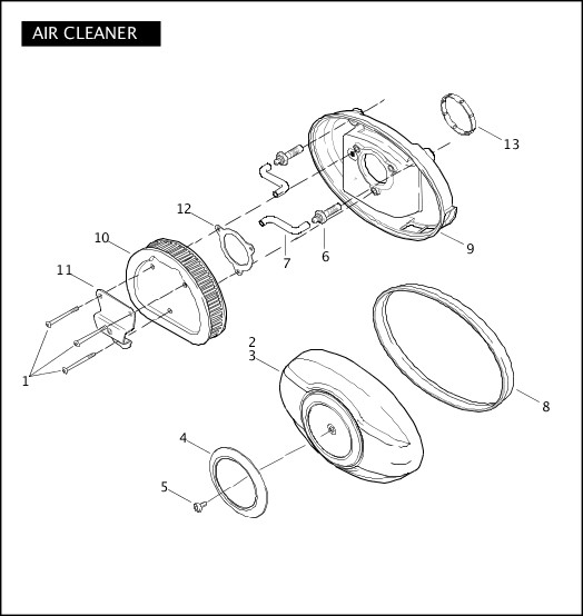 AIR CLEANER|2009 Touring Models Parts Catalog