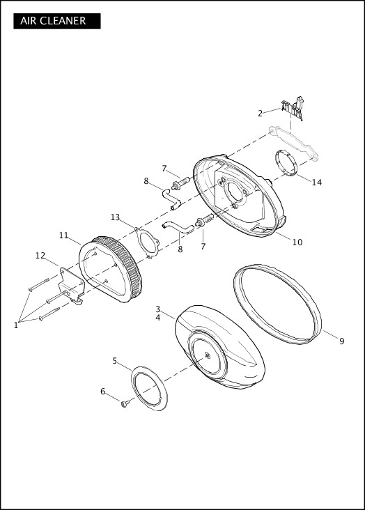 AIR CLEANER|2012 Touring Models Parts Catalog