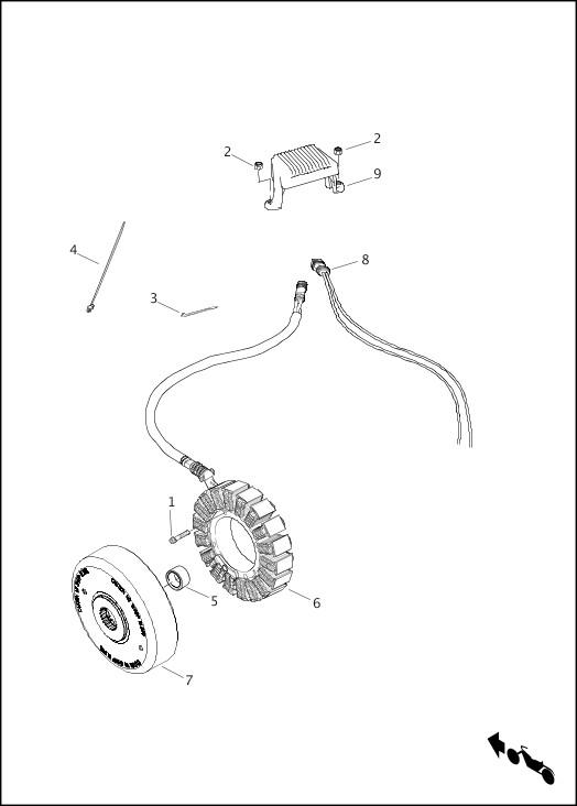 ALTERNATOR & REGULATOR|2013 Touring Models Parts Catalog