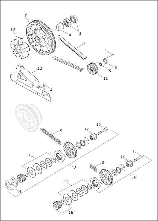 BELT, CHAINS & SPROCKETS|2014 Touring Models Parts Catalog