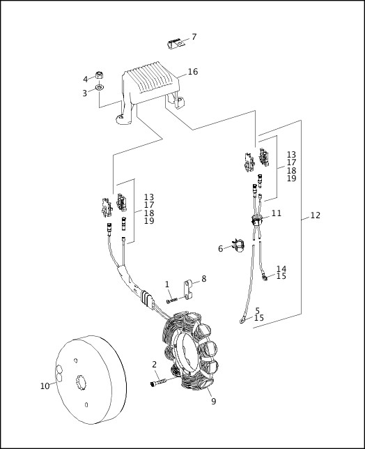 ALTERNATOR & REGULATOR - HIGH OUTPUT|1995-1996 FLT Models Parts Catalog