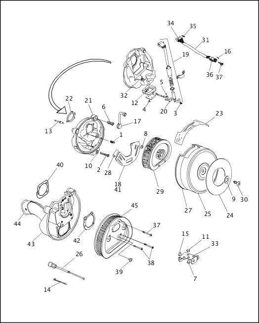 AIR CLEANER & ENRICHENER - CARBURETED (1 OF 2)|1995-1996 FLT Models Parts Catalog