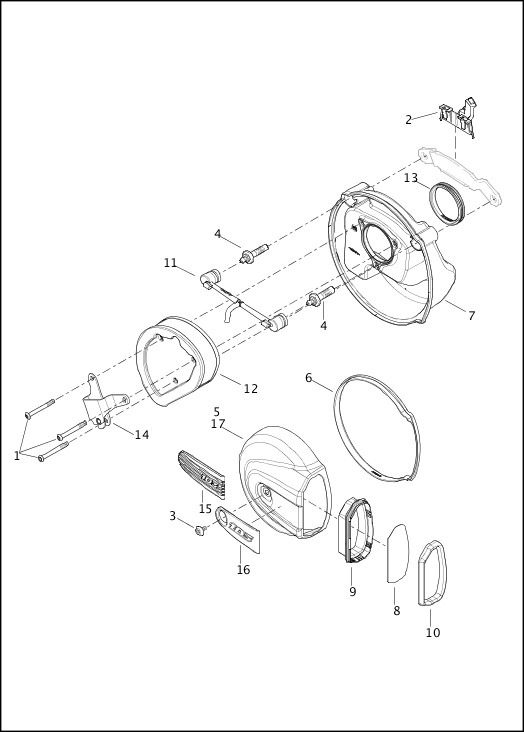 AIR CLEANER|2016 Touring Models Parts Catalog