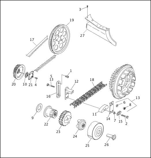 BELTS, CHAINS & SPROCKETS (2 OF 2)|1997 FLT Models Parts Catalog