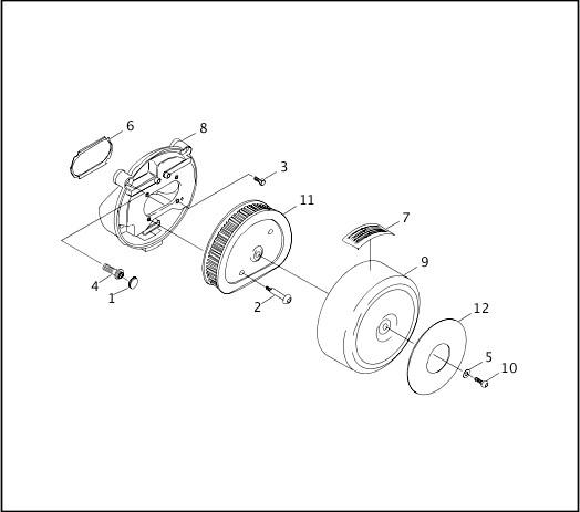 AIR CLEANER - FUEL INJECTED |1997 FLT Models Parts Catalog