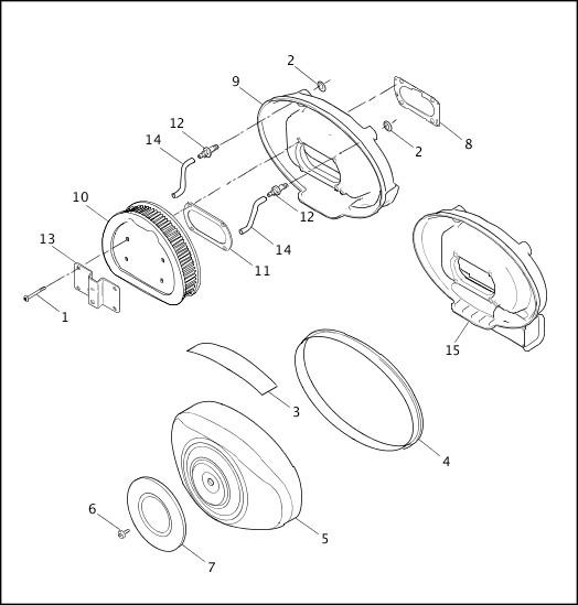 AIR CLEANER - FUEL INJECTED 1999 FLT Models Parts Catalog
