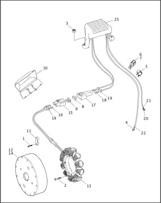 ALTERNATOR & REGULATOR|1998 FLT Models Parts Catalog