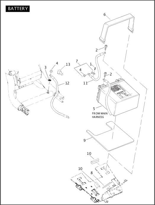 BATTERY|2005 VRSC Models Parts Catalog