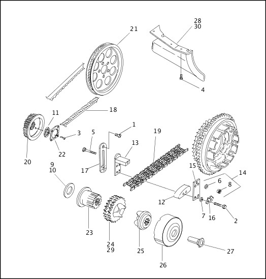 BELTS, CHAINS & SPROCKETS|1999 FLT Models Parts Catalog