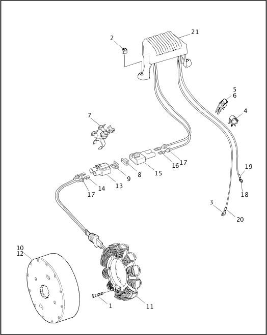 ALTERNATOR & REGULATOR|1999 FLT Models Parts Catalog