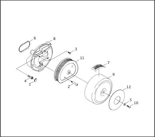 AIR CLEANER - FUEL INJECTED MODELS|1998 FLT Models Parts Catalog