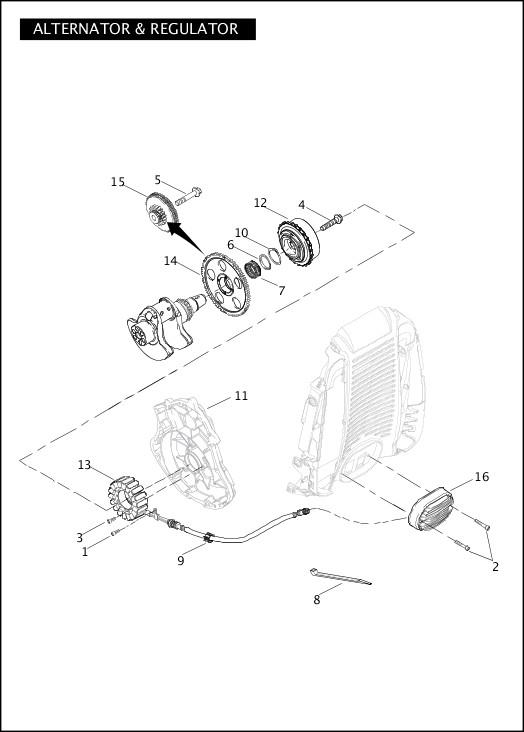 ALTERNATOR & REGULATOR|2012 VRSC Models Parts Catalog