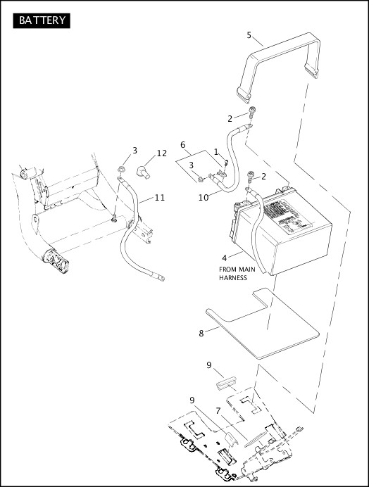 BATTERY|2006 VRSC Models Parts Catalog