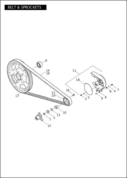BELT & SPROCKETS|2012 VRSC Models Parts Catalog
