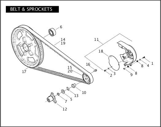 BELT & SPROCKETS 2011 VRSC Models Parts Catalog