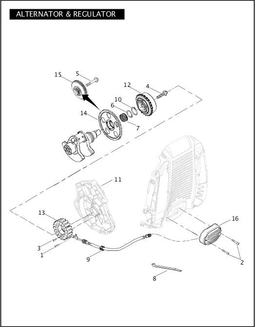 ALTERNATOR & REGULATOR|2008 VRSC Models Parts Catalog