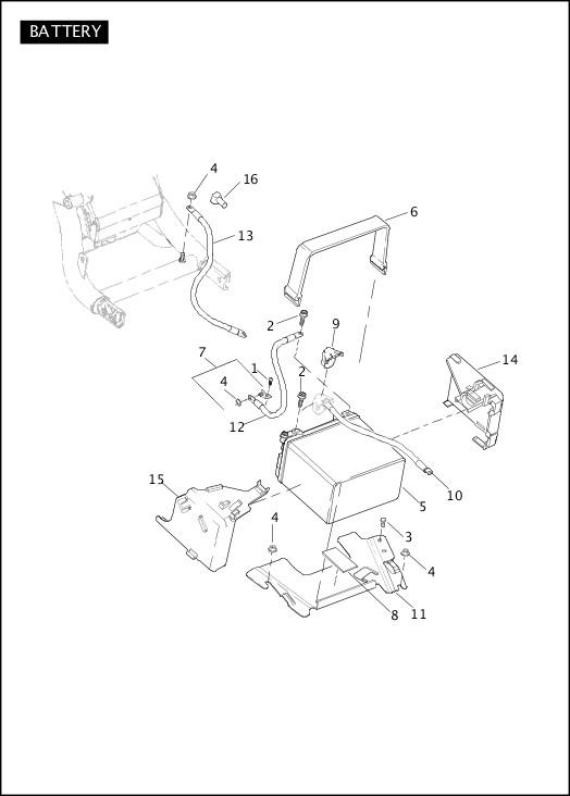 BATTERY|2012 VRSC Models Parts Catalog