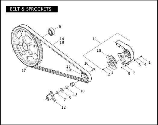BELT & SPROCKETS|2009 VRSC Models Parts Catalog