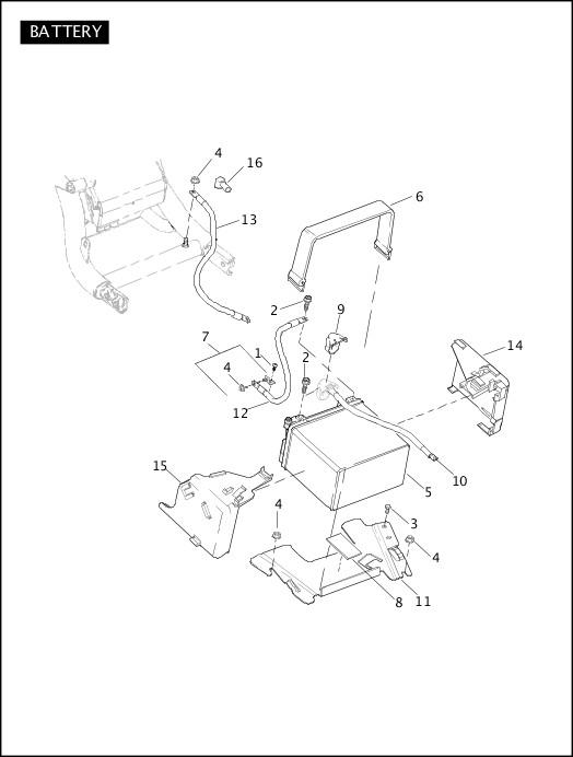 BATTERY 2011 VRSC Models Parts Catalog