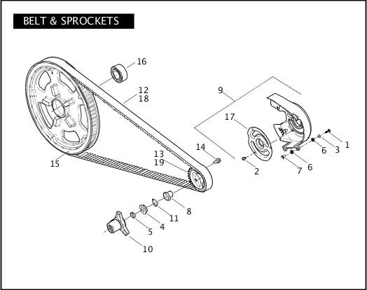 BELT & SPROCKETS 2007 VRSC Models Parts Catalog