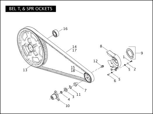 BELT & SPROCKETS|2006 VRSCSE2 Parts Catalog