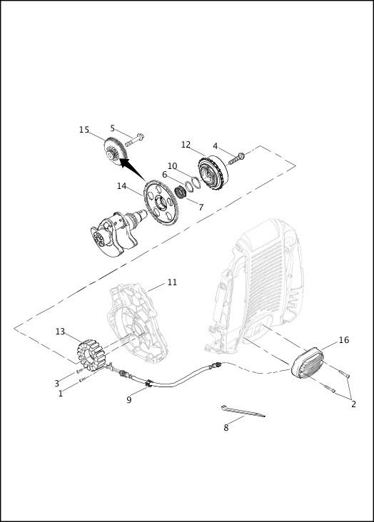 ALTERNATOR & REGULATOR|2013 V-Rod Models Parts Catalog
