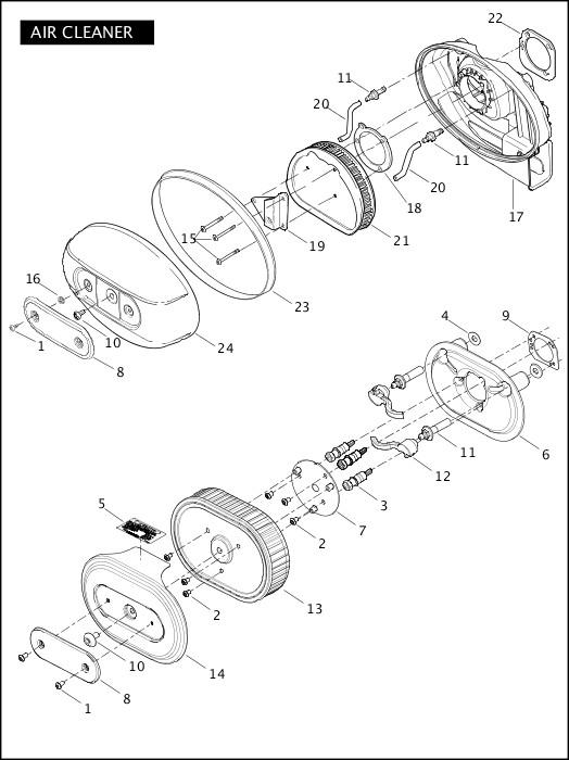 AIR CLEANER|2010 FLSTSE Parts Catalog