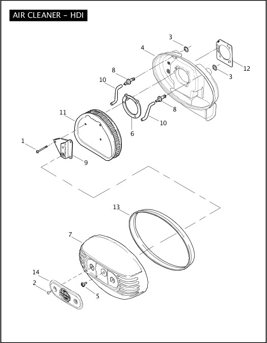 AIR CLEANER - HDI|2007 FXSTSSE Parts Catalog