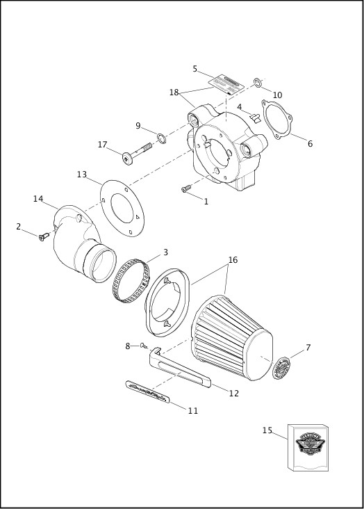 AIR CLEANER|2014 FXSBSE Parts Catalog