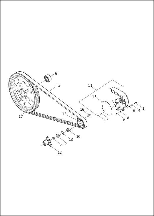 BELT AND SPROCKETS 2016 V-Rod Models Parts Catalog
