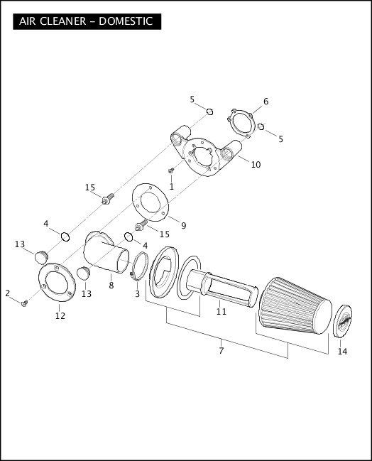AIR CLEANER - DOMESTIC|2008 FXSTSSE2 Parts Catalog