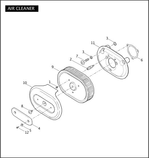 AIR CLEANER|2011 FLSTSE2 Parts Catalog