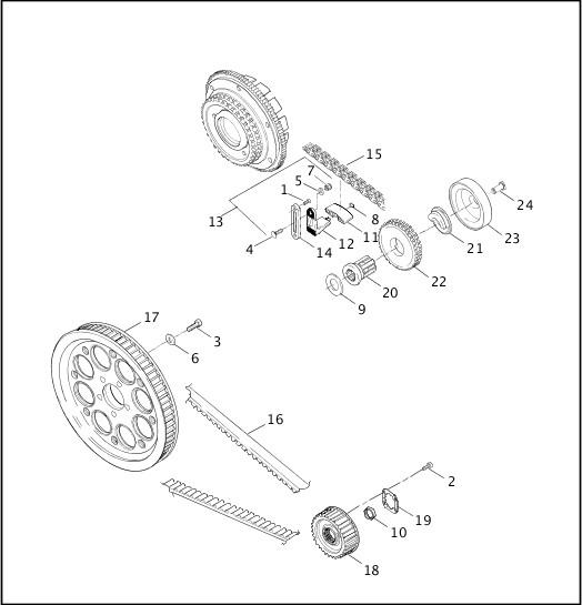 BELTS, CHAINS & SPROCKETS|2001 Dyna Police Model Parts Catalog