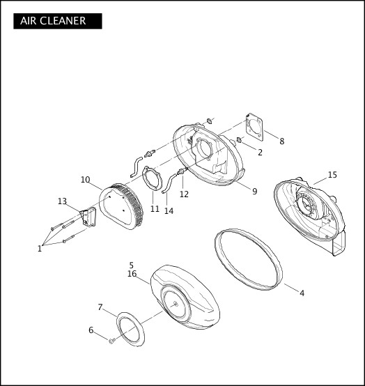 AIR CLEANER|2007 Police Models Parts Catalog