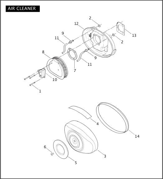 AIR CLEANER|2004 FLT Police Models Parts Catalog