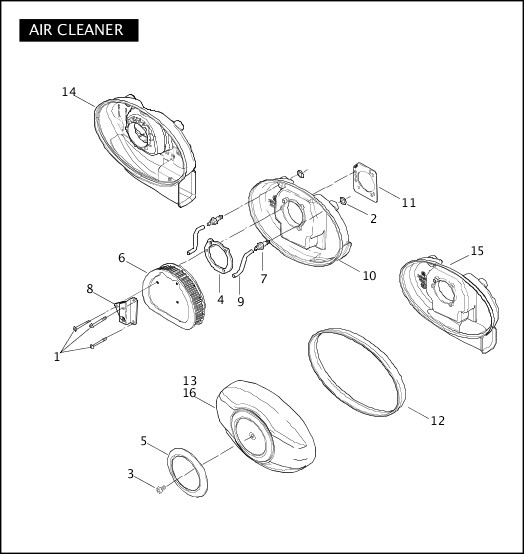 AIR CLEANER|2006 Police Models Parts Catalog