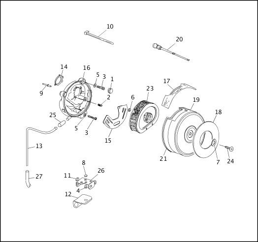 AIR CLEANER & ENRICHMENT CABLE|1991-1992 FXRP/FLHTP Models Parts Catalog