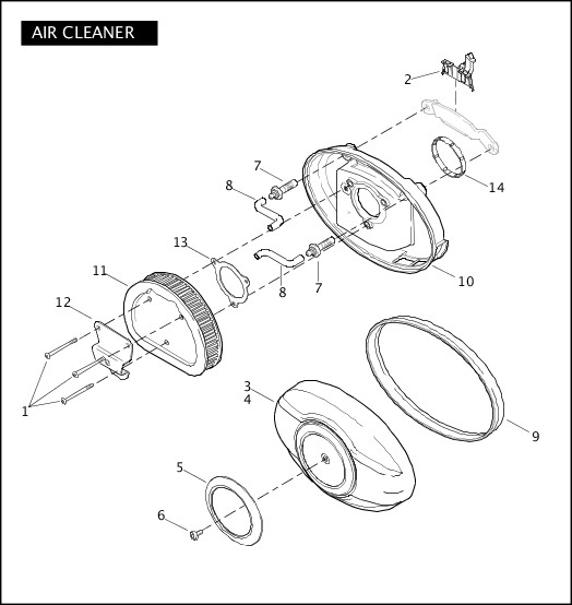 AIR CLEANER|2011 Police Models Parts Catalog