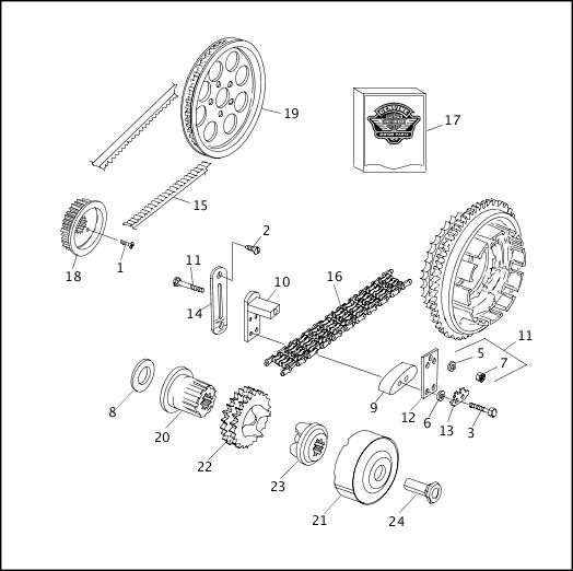 BELTS, CHAINS & SPROCKETS (1 OF 2)|1991-1992 FXRP/FLHTP Models Parts Catalog