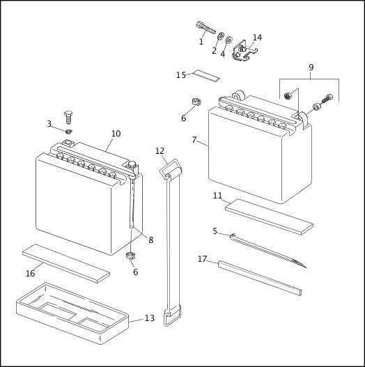 BATTERY|1991-1992 FXRP/FLHTP Models Parts Catalog