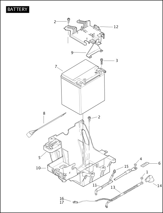 BATTERY|2011 Police Models Parts Catalog