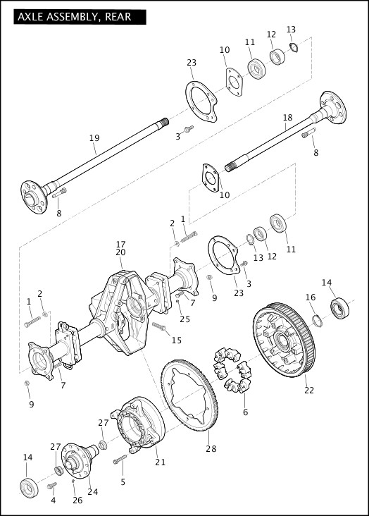 AXLE ASSEMBLY, REAR|2012 Trike Model Parts Catalog