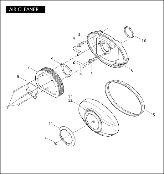 AIR CLEANER|2009 TriGlide Model Parts Catalog
